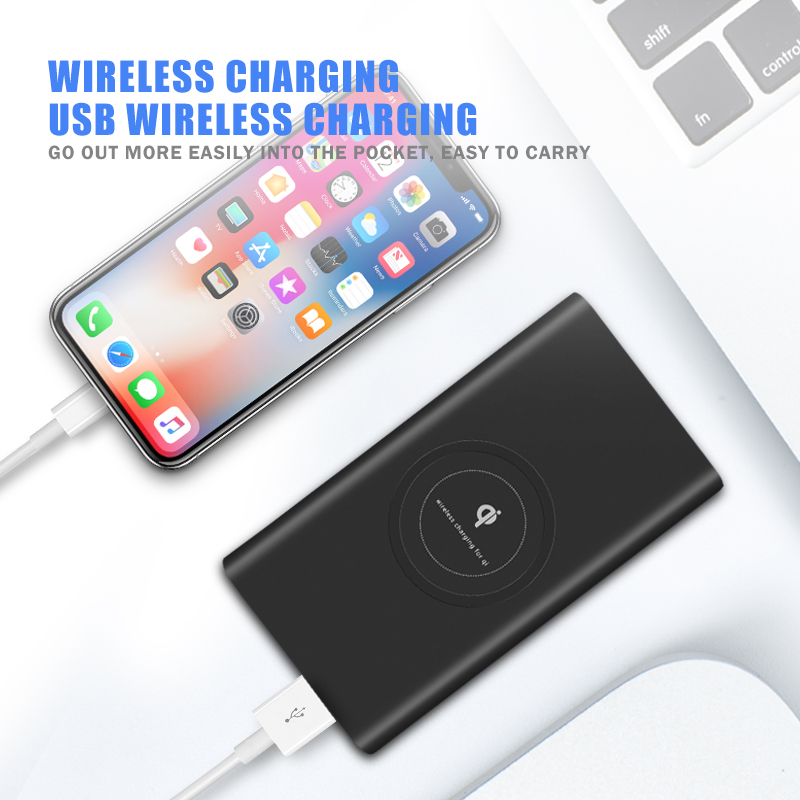 Hot sell 3 in 1 power bank wireless charger 10000mah , slim wireless charger power banks for iphone 8.8X,for Samsung