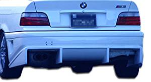 1992-1998 BMW 3 Series M3 E36 2DR 4DR Convertible Duraflex Bomber Rear Bumper Cover - 1 Piece