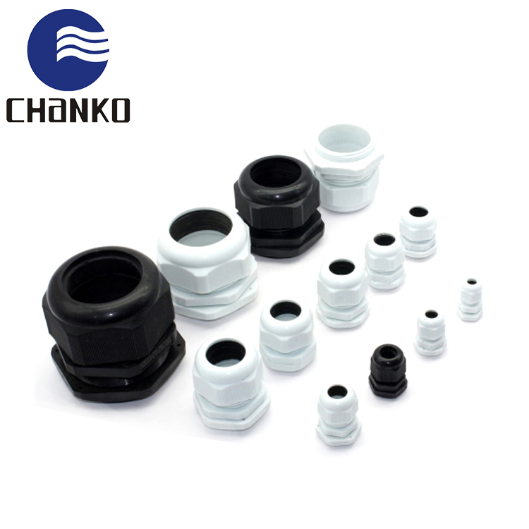 plastic cable gland PG series nylon cable gland grey water rubber joint with CE certificate