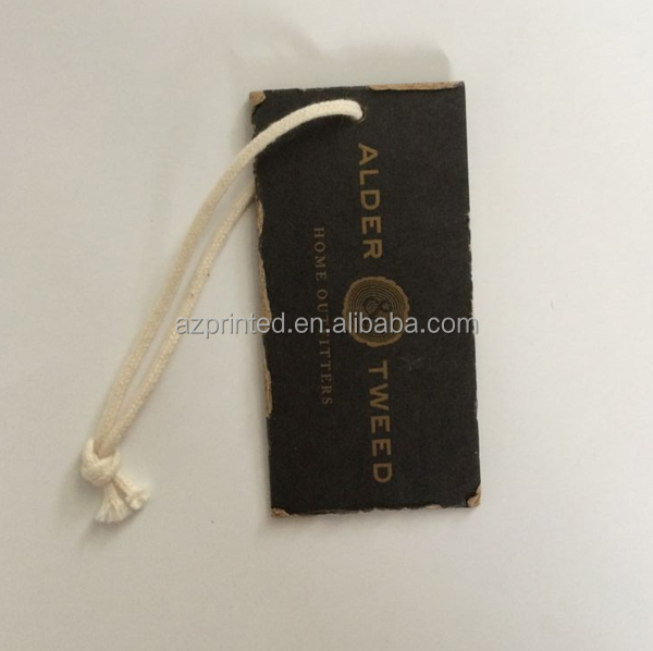 buy kraft paper furniture brand tag with off-white cotton string from china