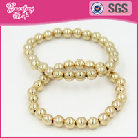 fashion jewelry handmade gold silver plated plastic bead bracelet