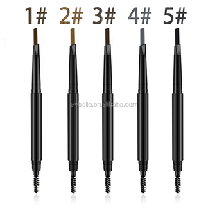 Long Lasting makeup 5 colors auto double ended eyebrow pencil for eyebrow use