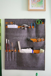 Eco friendly felt wall pockets tool organizer made in China