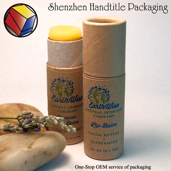 2017 New packing Paper lip balm tube for Sunscreen
