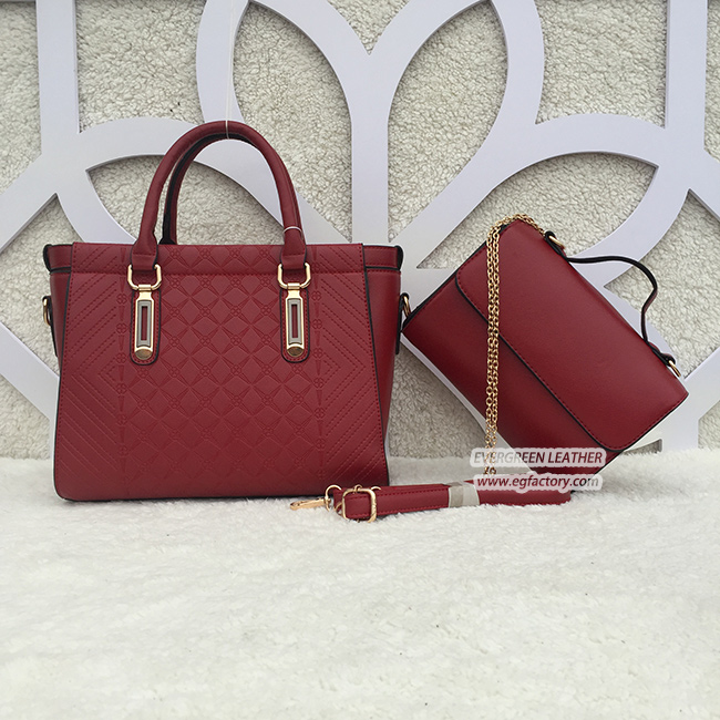 Famous Brand Custom Las Pu Handbags 2pcs Bag Set Classic Women Bags For Whole Bolsas Para
