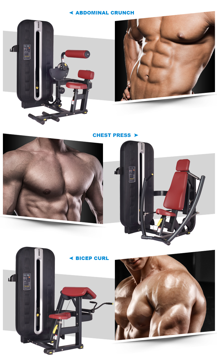 Abdominal crunch fitness equipment sport training machine