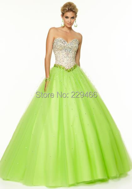 b3b11cfdd9ec5 Get Quotations · Beaded Sweetheart Ball Gown Green Tulle Corset Long Prom  Dresses 2015 Backless vestido de formatura