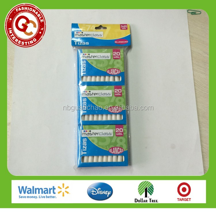 promotional 60 pcs white chalk for school and office