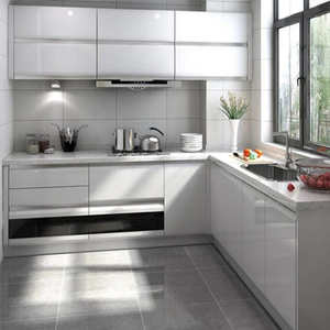 High gloss white lacquer finish kitchen cabinet for modern simple kitchen  design from china suppliers