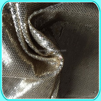 black full sequin embroidery fabric for dress