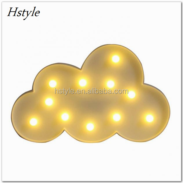 LED Night Lights Home Decoration 11 Leds Cartoon Lamp Novelty 3D Marquee Cloud Indoor Lighting Creative Battery Operated SNL093