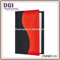 good menu design ideas hotel menu cover/ Refrigeration for restaurant/ executive folder low fob price