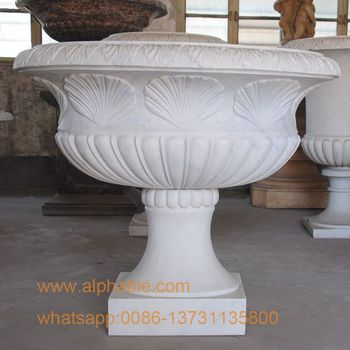 Natural Marble Garden Flowers Pot Wholesale Garden Urns , Buy Wholesale  Garden Urns,Decorative Garden Urns,Garden Marble Flower Pot Product on