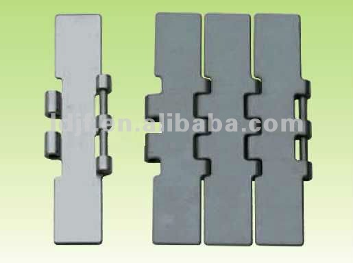 LD JC802 steel hinge type flattop chain sold by meter for cnc machine