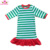 2018 Newest Wholesale Girls Christmas Fancy Dress Red Long Sleeve Cotton Baby Christmas dress