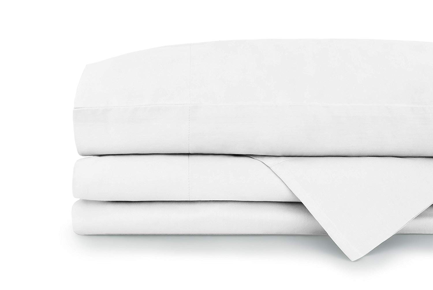 """400 Thread Count 100% Cotton Sheets, 4 Piece Set, White Queen Sheets Sets, Fits 18"""" Deep Pockets, Wonderful Sateen Weave, Soft Luxury Cotton Sheets and Pillowcases by Americana Bed Collection"""