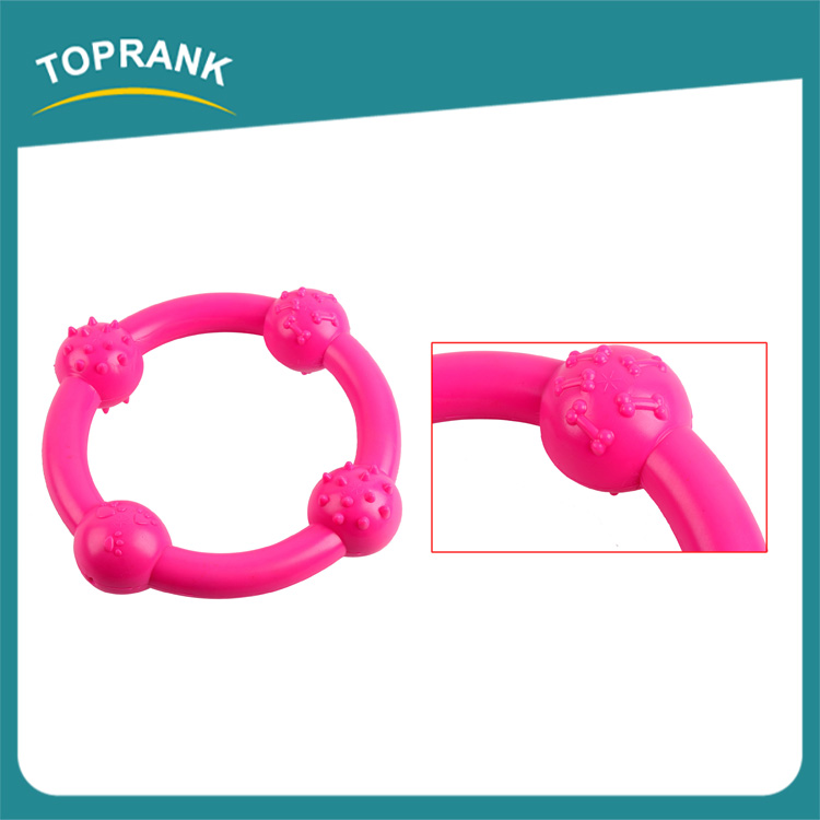 Hot Selling TPR Rubber Pets Dogs Puppy Biting Chew Ring Play Toy For Dog