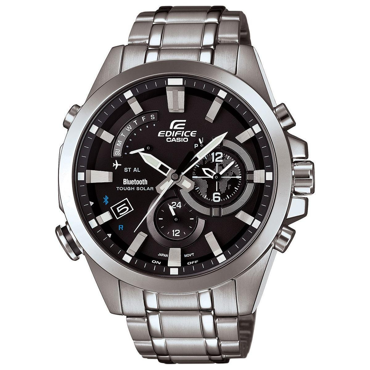 Men's Casio Edifice Day Date Stainless Steel Watch