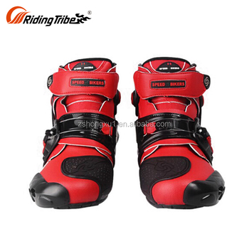 RIDING TRIBE China Cheap China Red 40 45 Short Casual Riding Cheap Ladies Leather Motorbike Shoes A9001