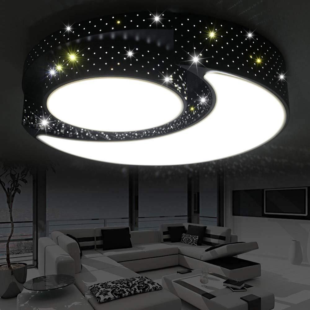 DIDIDD Ceiling light- led dimming romantic warm children's room creative circular acrylic ceiling light bedroom study ceiling light (color, Size optional) --home warm ceiling lamp