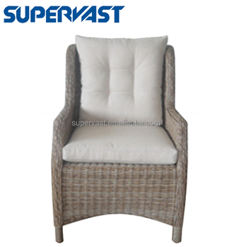 Outdoor Armchair Resin Wicker Furniture Low Back Chair