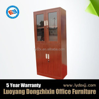 glass door wood grain cabinet for indian market
