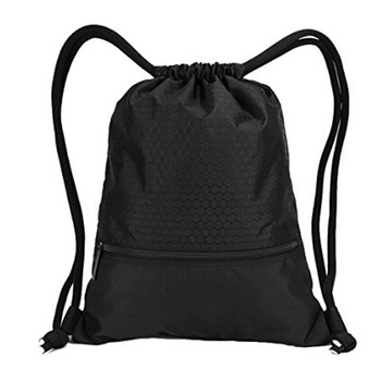 Customised Black Canvas Drawstring Bag Reusable Cotton Bags