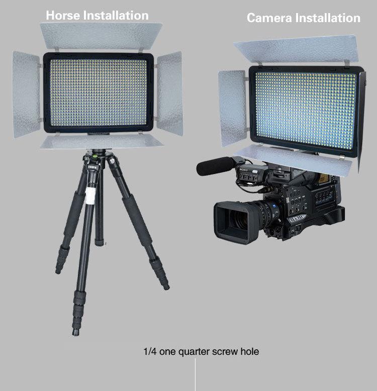 Mcoplus LE-520B 528 LED Dual Bi-Colour Video Light 3200-7500K w// 2.4GHz Remote C