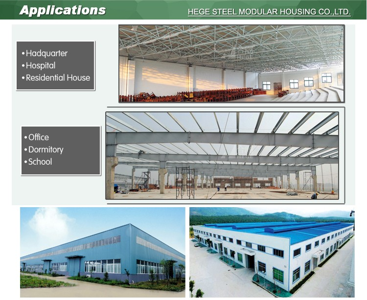 steel structure warehouse stadium conference hall gym passage hanger