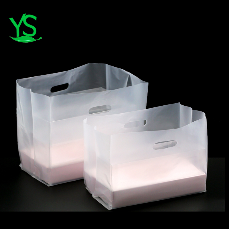 hot sell customized size and logo high transparency biodegradable food shopping trolley delivery promotion bag