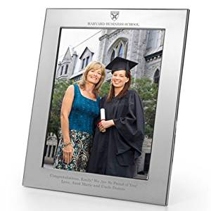 Harvard Business School Polished Pewter 8x10 Picture Frame