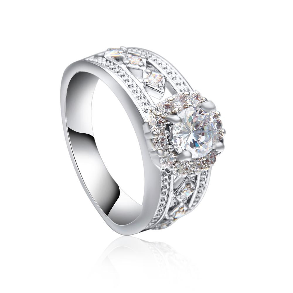 e1c369fafbd8 Venta al por mayor 2017 último anillo de plata de la boda 925 de valor de