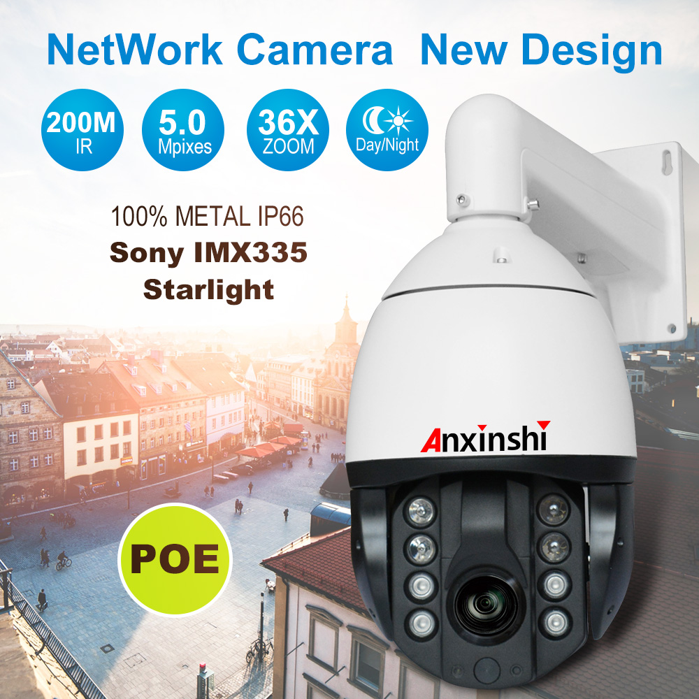5MP 36X Starlight low illumination IR Smart air energy system IP PTZ CCTV Camera