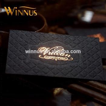 Custom Name Printing Lozenge Shape Gold Foil Embossed Business Card