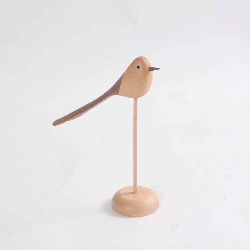 wholesale Wooden Craft Shapes Arts Crafts Bird Model For Sale Decor Home Bird Toy Supplies For Decor Home Office Gift