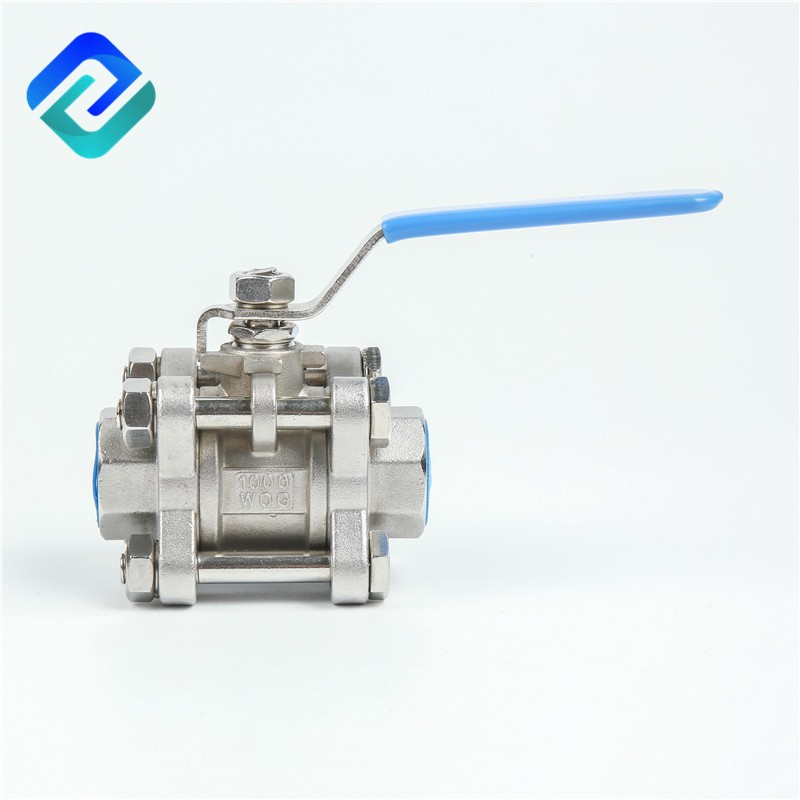 Excellent quality 3pc stainless steel investment casting ball valve,China.