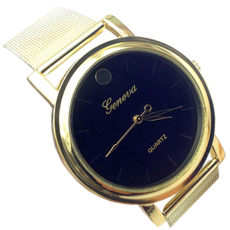 26fb3e85 2015 new most popular luxury brand gold stainless steel mesh belt watch Ms.  Diamond quartz watch free shipping-jl-54