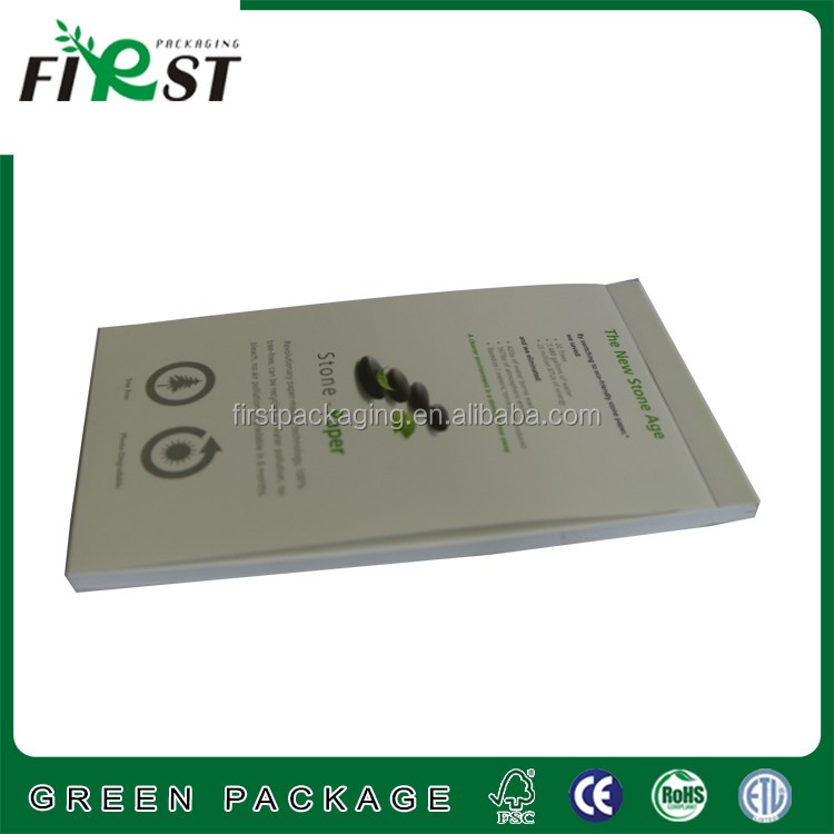 paper waterproof paper notebook with LOGO print