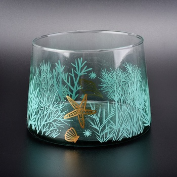 custom printed glass candle jars wholesale