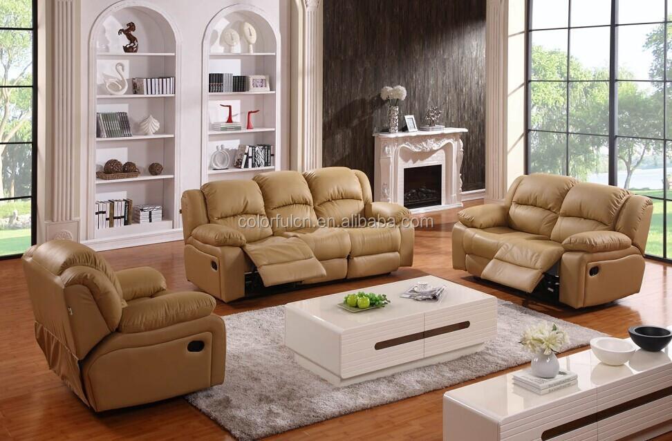 Genuine Leather Hot Sale Recliner Sofa/cheap Genuine ...
