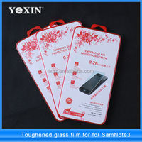 For sumsung galaxy s4 note 3 9H tempered glass 0.33mm screen protector with ce ROHS certification