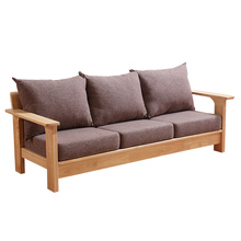 Nordic style modern designs rubberwood wooden sofa frame living room furniture sofa home