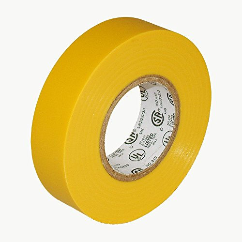 """J.V. Converting E-TAPE/YEL07522 JVCC E-Tape Colored Electrical Tape: 3/4"""" x 66 ft, Yellow"""