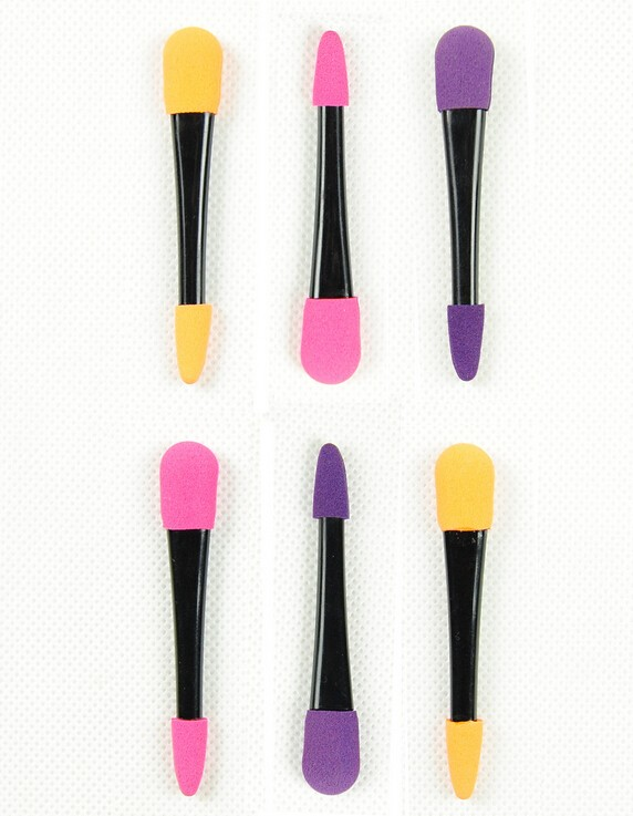 Deluxe latex foam 2-end eye shadow applicator makeup brush cosmetic eyeshade applicator