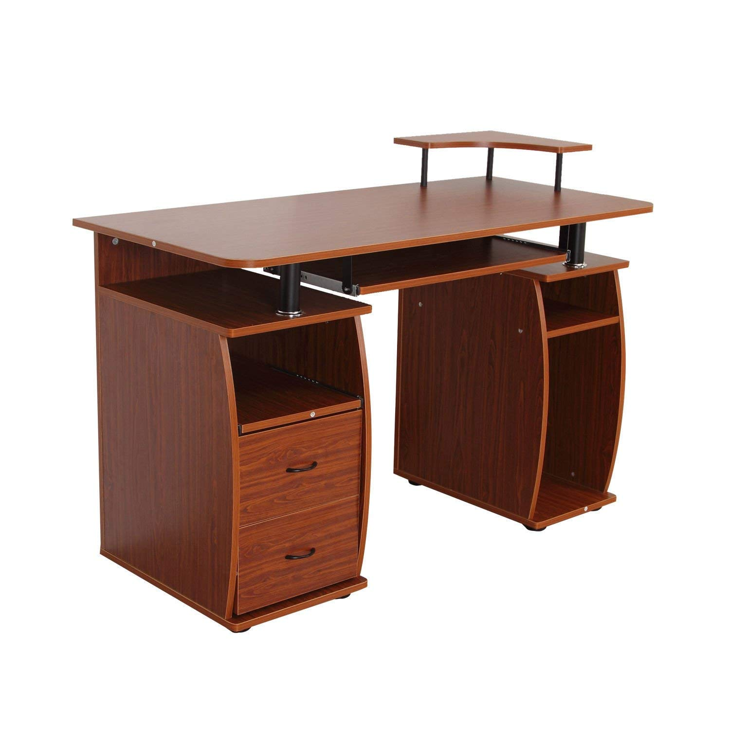 Get Quotations · Computer Table PC Desk Work Station W/Printer Shelf Home  Office Furniture With Ebook