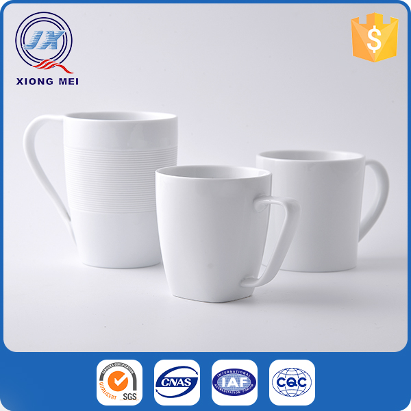 Factory Direct Sale Eco Friendly Porcelain Personalized White Mugs Ceramic Custom
