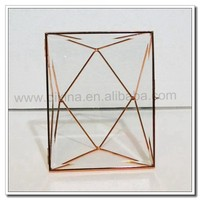 brass& Glass Picture Photo Image Frame Wall Home Decoration New!! Wedding glass photo frame couple@@ hanging open standing frame