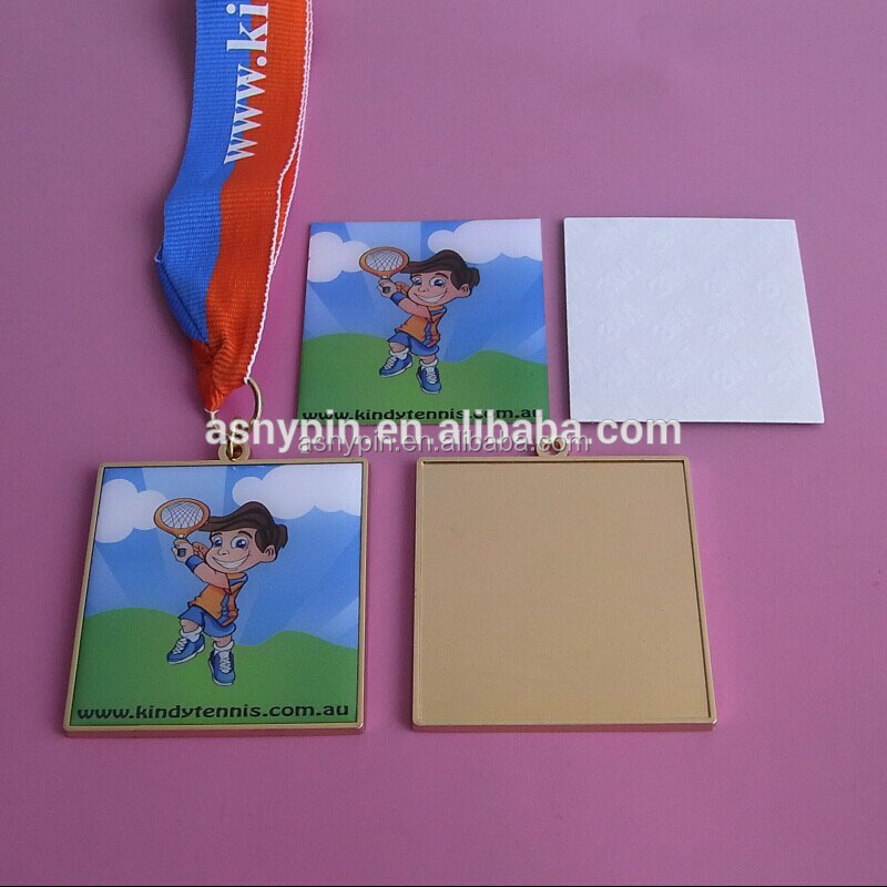 Tennis Game For Kids Printing Sticker Medal, Personalized Ribbon Medal For Children Tennis Game