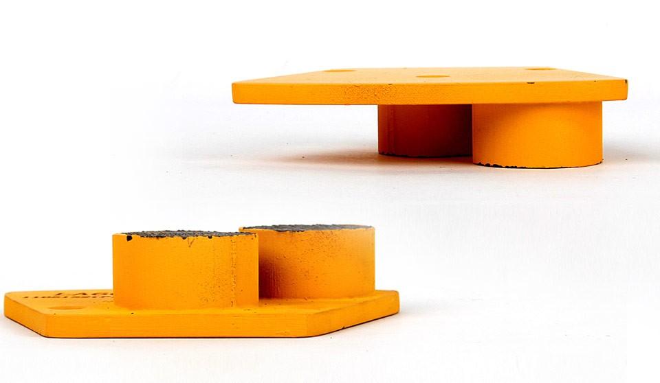 Metal based trapezoid shape concrete floor diamond polishing pads