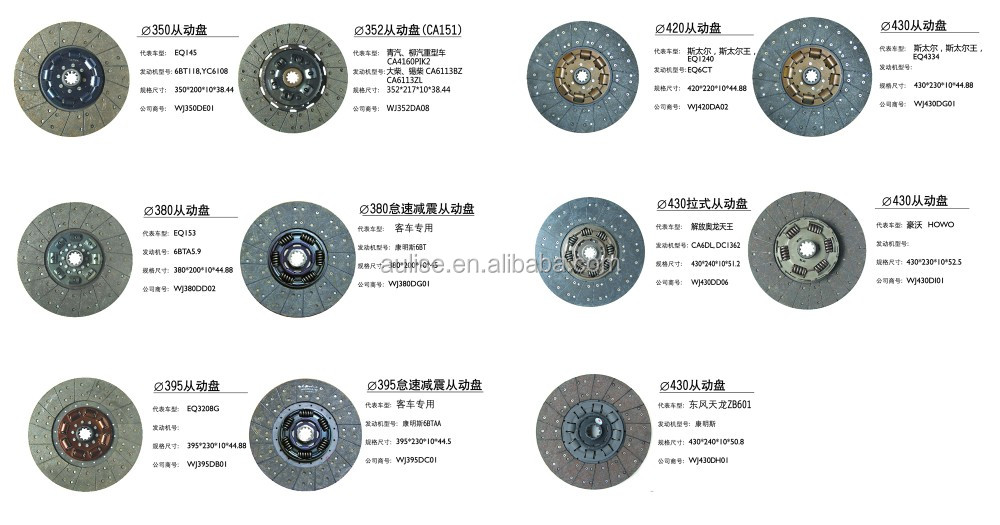 430MM 430*240*10*51.2 ORIGINAL OEM TRUCK CLUTCH DISC DISCO DE EMBRAGUE